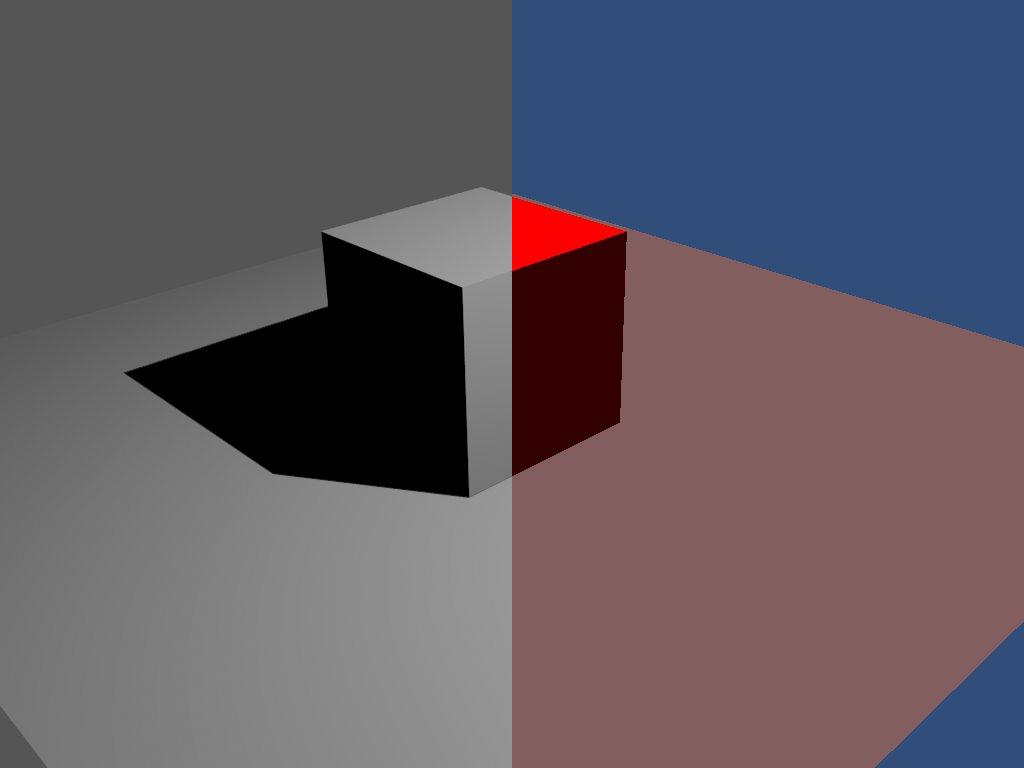 Left: Blender rendering, right: Unity rendering
